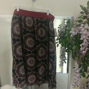 LulaRoe Lola Geometric Printed A line Skirt